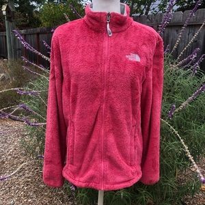 The North Face Pink Fluffy Fleece Jacket - Size L